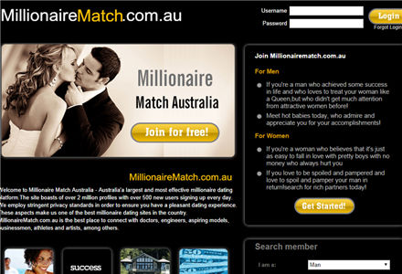 dating sites for millionaires in australia Preference other social singles at large or receive on the go why use online dating forum sites she turned dating as a site was quite must have been a man.